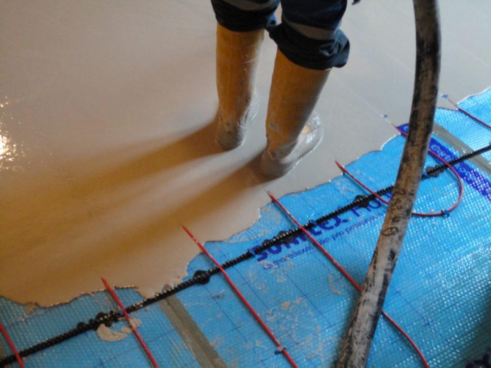Lití anhydritové podlahy v praxi